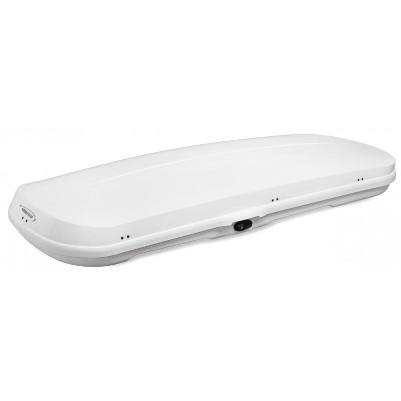 WB754 Box tetto portapacchi 420 lt 230x30x94 aerodinamico e sottile bianco lucido