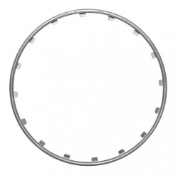 Rim Ringz Set 4 protezioni cerchi in legadiametro 17 - argento