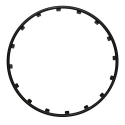 Rim Ringz Set 4 protezioni cerchi in lega diametro 18 - nero