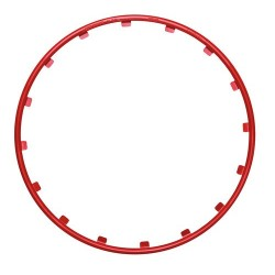 Rim Ringz Set 4 protezioni cerchi in legadiametro 19 - rosso