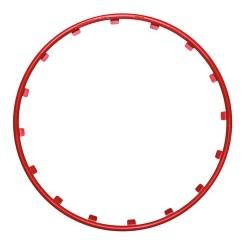 Rim Ringz Set 4 protezioni cerchi in legadiametro 20 - rosso