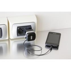 Caricabatteria da rete Micro Usb con 1 porta Usb - Fast Charge - 2400 mA - 100/230V