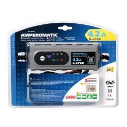 Amperomatic caricabatteria intelligente 6/2012V - 0.8/4.2A