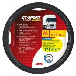 GT-Sport coprivolante in TPE - M - diametro 44 - 46 cm - nero - argento