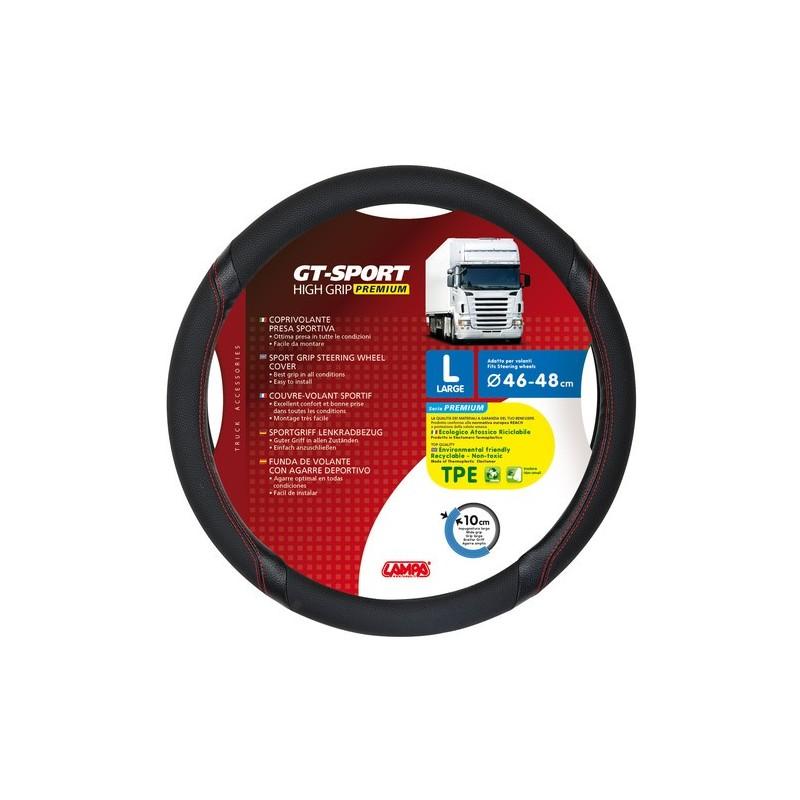 GT-Sport coprivolante in TPE - L - diametro 46 - 48 cm - nero - rosso