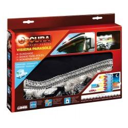 Oscura fascia parasole per camion - nero