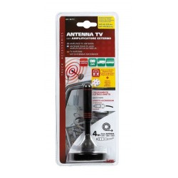 Antenna TV con amplificatore esterno 24V - 115 mm