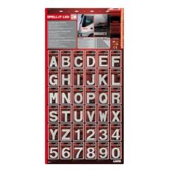 Spell-It Led - Espositore da 108 pezzi - rosso