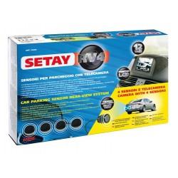 Setay RV4 sensori parcheggio con telecamera e monitor 12V