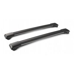 Rail Black coppia barre portatutto in alluminio - 73 cm