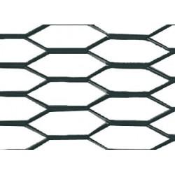Griglia racing Hexagon 8x25 mm 100x33 cm nero anodizzato