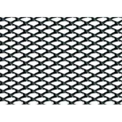 Griglia racing Rombo fine 2x4 mm 100x33 cm nero anodizzato