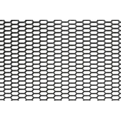 Original-Look griglia aerazione in PP - Esagono fine 8x18 mm - 120x40 cm - nero