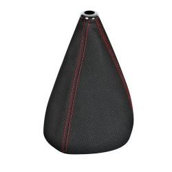 Premium Sport cuffia leva cambio in pelle perforata - nero/rosso