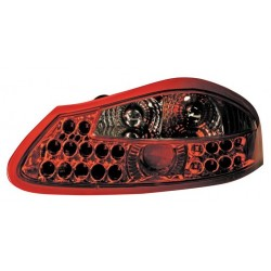 Coppia fanali posteriori a led Angel Eyes rosso