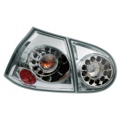 Coppia fanali posteriori a led Angel Eyes cromo