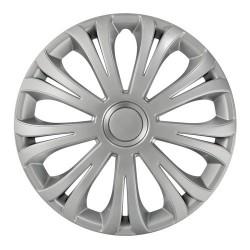 Avera Silver Kit 4 copricerchi coppe ruota diametro 13