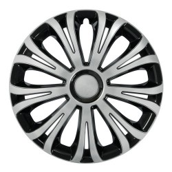 Avera Silver & Black Kit 4 copricerchi coppe ruota diametro 13