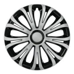 Avera Silver & Black Kit 4 copricerchi coppe ruota diametro 15