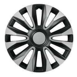 Avalone Silver & Black Kit 4 copricerchi coppe ruota diametro 13