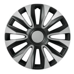Avalone Silver & Black Kit 4 copricerchi coppe ruota diametro 14