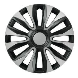 Avalone Silver & Black Kit 4 copricerchi coppe ruota diametro 15