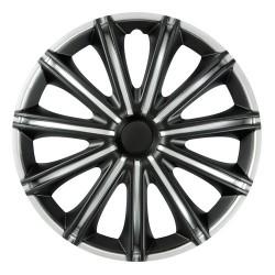 Nero Black & Silver Kit 4 copricerchi coppe ruota diametro 13