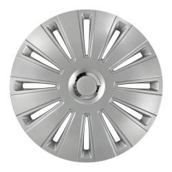Daytona-Pro Silver Kit 4 copricerchi coppe ruota diametro 13