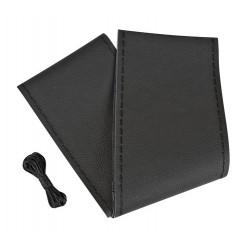 Premium coprivolante in pelle - L - diametro 37/39 cm - nero