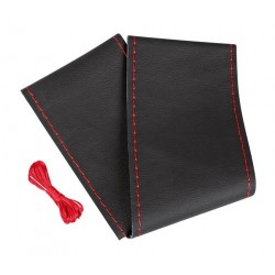 Premium coprivolante in pelle - L - diametro 37/39 cm - nero/rosso