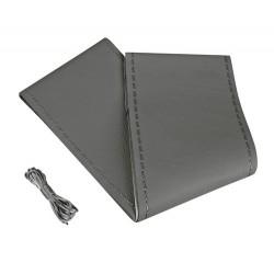 Premium coprivolante in pelle - L - diametro 37/39 cm - grigio