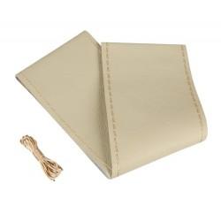 Premium coprivolante in pelle - L - diametro 37/39 cm - beige