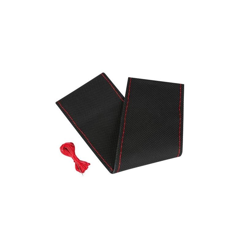 Premium Perforated coprivolante in pelle - L - diametro 37/39 cm - nero/rosso