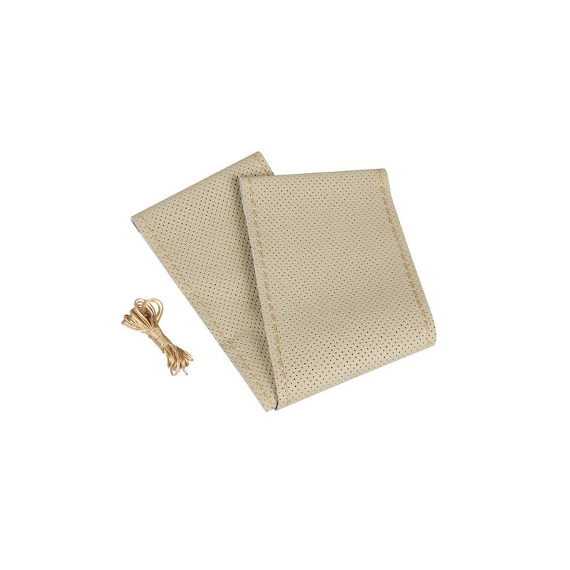 Premium Perforated coprivolante in pelle - L - diametro 37/39 cm - beige