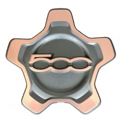 Kit serie 4 coprimozzi coppa ruota per cerchi in lega con bordo bronzo