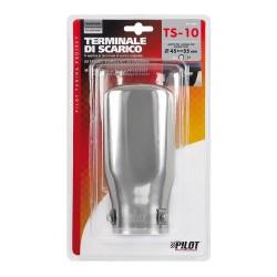 TS 10 Terminale di scarico in acciaio inox lucidato diametro 45-55 mm