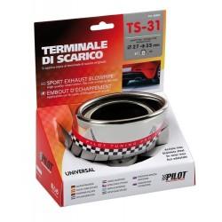 TS 31 Terminale di scarico in acciaio inox lucidato diametro 27-35 mm