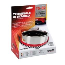 TS 32 Terminale di scarico in acciaio inox lucidato diametro 53-59 mm