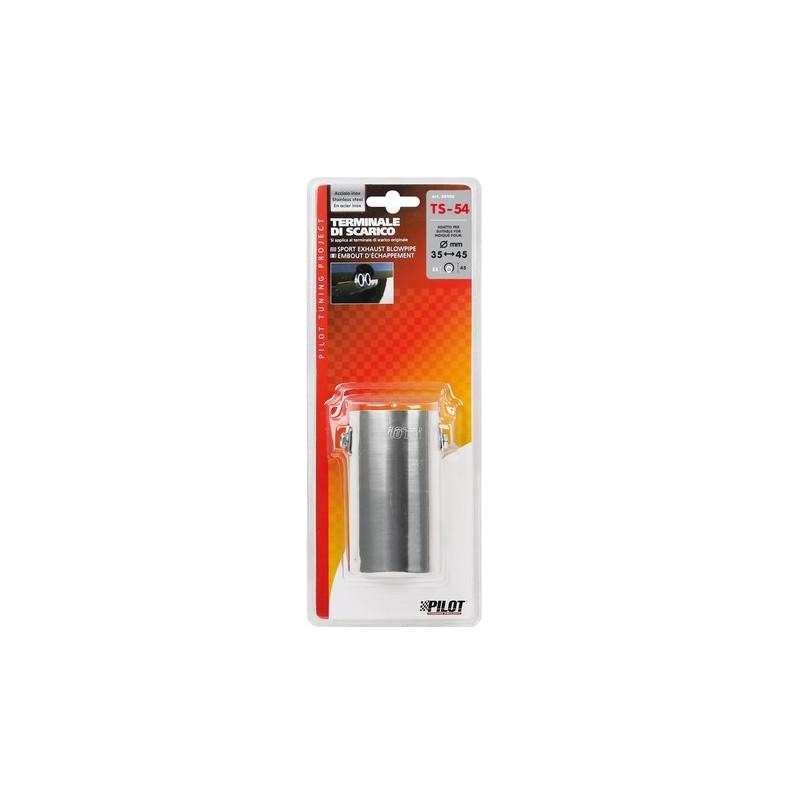 TS 54 Terminale di scarico in acciaio inox lucidato diametro 35-45 mm