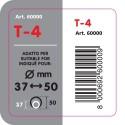 T 4 Terminale di scarico in acciaio inox lucidato diametro 37-50 mm