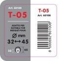 T 05 Terminale di scarico in acciaio inox lucidato diametro 32-45 mm