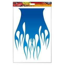 Kit Car Tattoo decorazione cofano o tetto 7 pezzi blu