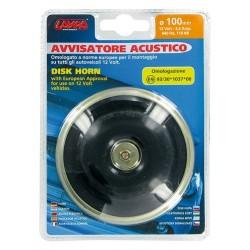 Avvisatore acustico diametro 100 mm 12V Tono alto