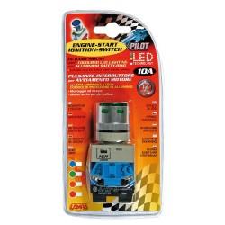 Interruttore a pulsante 12V verde 10A