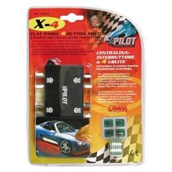 X 4 centralina interruttore a 4 uscite 12V